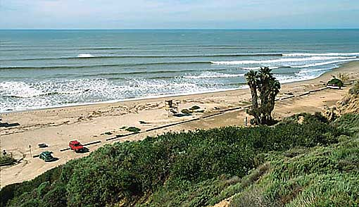 San Onofre State Beach Surf Spot