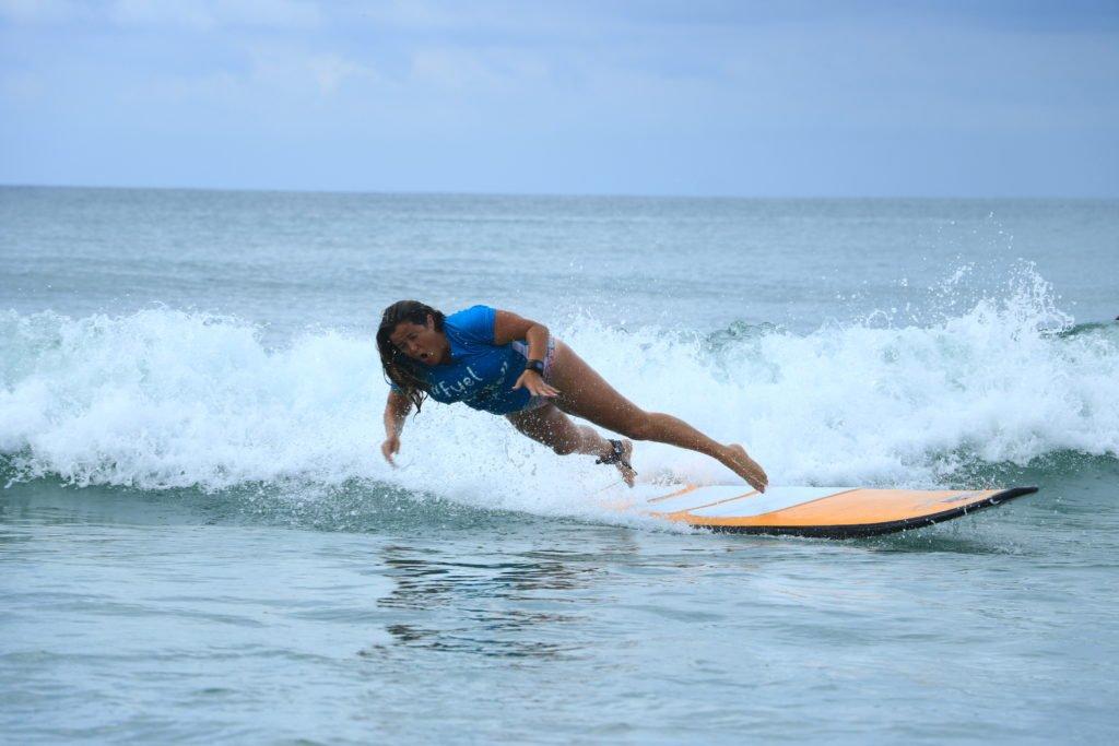 La Lancha surfing wipeout