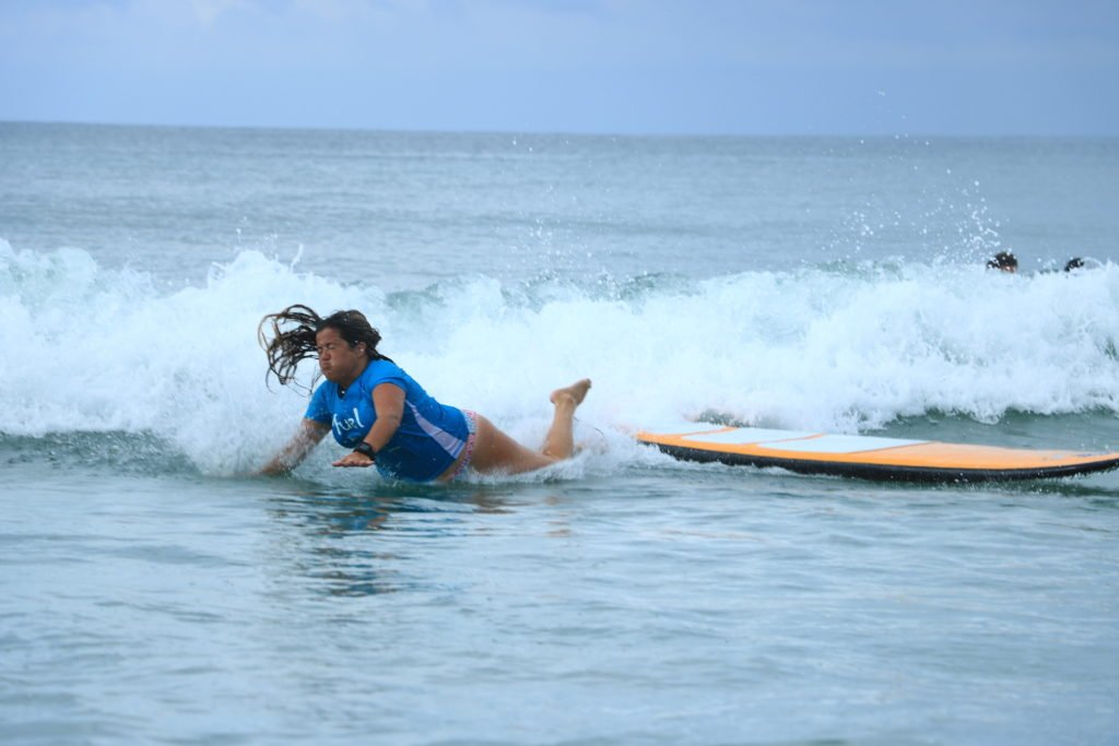 La Lancha surf spot wipeout