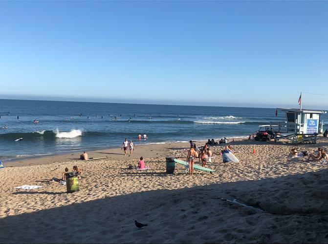 Chillin Out at Malibu beach