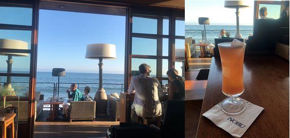 Nobu at Malibu view